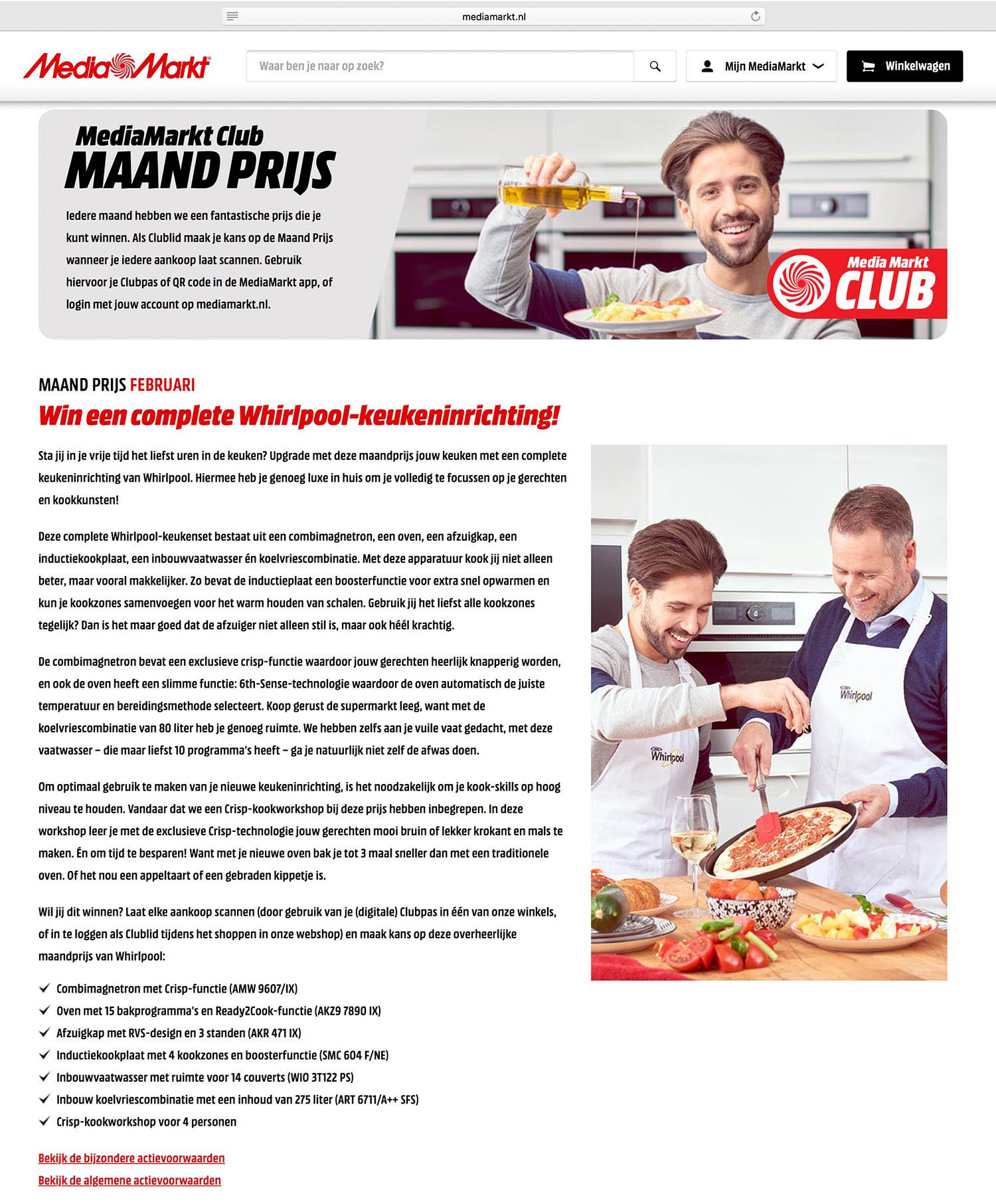 MediaMarkt reclamefotografie whirlpool loran von liebenstein uiting website dor Mark Koolen high-end fotografie